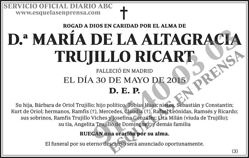 María de la Altagracia Trujillo Ricart